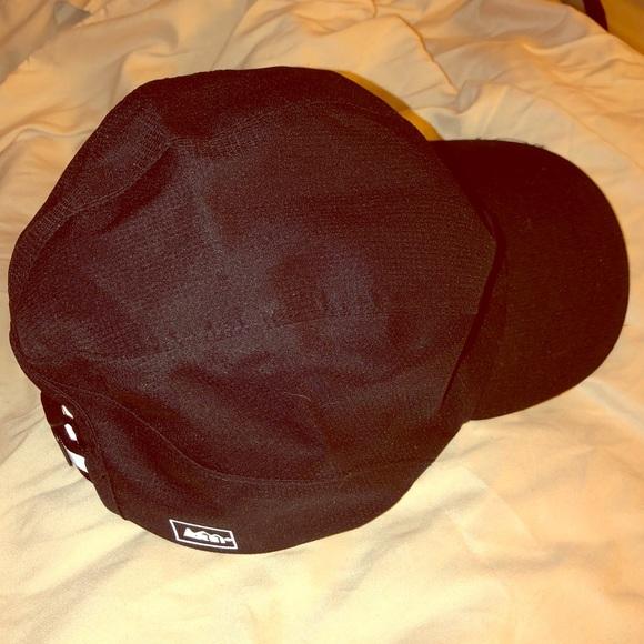 REI waterproof reflective logo black cap dad hat ae9a4c04380